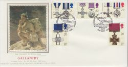 1990-09-11 Gallantry Stamps Hawkinge PPS FDC (79320)