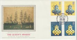 1990-04-10 Queen Award Stamps Folkestone PPS FDC (79323)