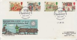 1986-06-17 Medieval Life Stamps London WC2 FDC (79346)