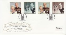 1997-11-13 Golden Wedding Stamps Westminster Abbey FDC (79525)
