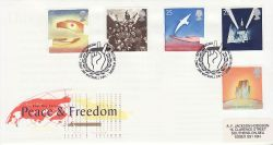 1995-05-02 Peace and Freedom Stamps Whitehall FDC (79528)