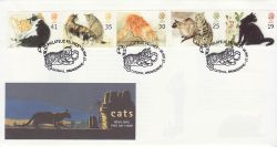 1995-01-17 Cats Stamps Catshill FDC (79532)