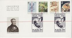 1984-06-26 Greenwich Meridian Stamps London EC4 FDC (79550)