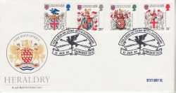 1984-01-17 Heraldry Stamps London EC4 FDC (79554)