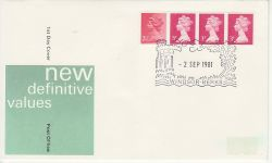 1981-09-02 Definitive Coil Stamps Windsor FDC (79559)