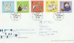 2003-02-25 Secret of Life DNA Stamps Cambridge FDC (79650)