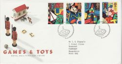 1989-05-16 Games and Toys Stamps Bureau FDC (79716)