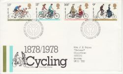 1978-08-02 Cycling Stamps Bureau FDC (79743)