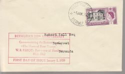 1959-01-01 Bermuda Perot's Post Office Stamp FDC (79931)
