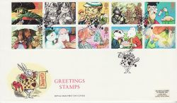 1993-02-02 Greetings Stamps Daresbury FDC (80033)