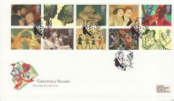 1995-03-21 Greetings Stamps Gretna Green FDC (80034)