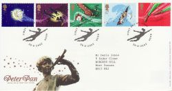 2002-08-20 Peter Pan Stamps Hook FDC (80057)