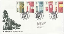 2002-10-08 Pillar To Post Bishops Caundle FDC (80058)