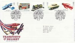 2003-09-18 Transports of Delight Stamps Toye FDC (80085)