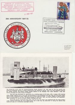 1972-10-28 Hovercraft Service Wallasey Carried Souv (80167)