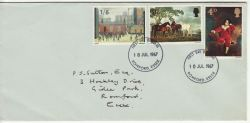 1967-07-10 British Painters Stamps Romford FDC (80241)