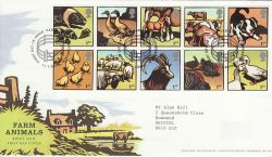 2005-01-11 Farm Animals Stamps Paddock FDC (80332)