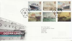 2004-04-13 Ocean Liners Stamps Southampton FDC (80342)