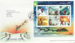 2004-11-02 Christmas Stamps M/S Bethlehem FDC (80370)
