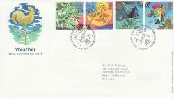 2001-03-13 Weather Stamps Bureau FDC (80388)