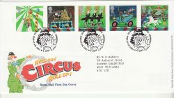 2002-04-09 Circus Stamps T/House FDC (80417)