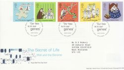 2003-02-25 Secret of Life DNA Stamps T/House FDC (80441)