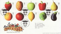 2003-03-25 Fruit and Veg Stamps T/House FDC (80442)
