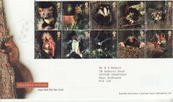 2004-09-16 Woodland Animals Stamps T/House FDC (80478)