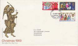 1969-11-26 Christmas Stamps Bethlehem FDC (80672)