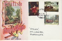 1967-07-10 British Painters Stamps Portsmouth FDC (80689)