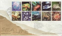 2007-02-01 Sea Life Stamps T/House FDC (80707)
