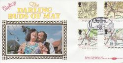 1991-09-17 Maps Stamps Darling Buds of May FDC (80746)