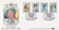 1990-08-02 Queen Mother Stamps London SW1 FDC (80757)