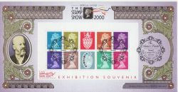 2000-05-22 J Matthews Stamp Show M/S London WC2 FDC (80834)