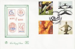 2000-10-03 Body and Bone Stamps Birmingham FDC (80865)
