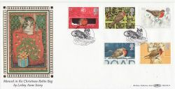 1995-10-30 Christmas Robins Stamps Oxford FDC (80879)