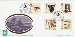 1996-03-12 Wildfowl and Wetlands Slimbridge FDC (80893)