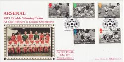 1996-05-14 Football Legends Stamps Arsenal FDC (80895)