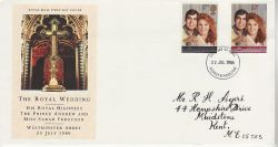 1986-07-22 Royal Wedding Stamps Medway FDC (81209)