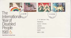 1981-03-25 Disabled Year Stamps London FDC (81219)
