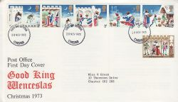 1973-11-28 Christmas Stamps Chester FDC (81237)