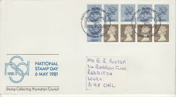 1981-05-06 National Stamp Day Booklet London EC1 FDC (81403)
