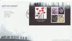 2006-11-09 Lest We Forget M/S T/House FDC (81437)