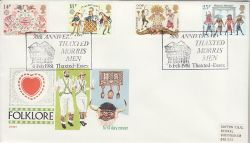 1981-02-06 Folklore Stamps Thaxted Morris Men FDC (81479)