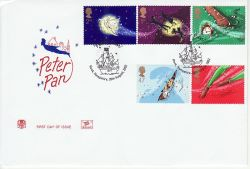 2002-08-20 Peter Pan Stamps Hook FDC (81523)