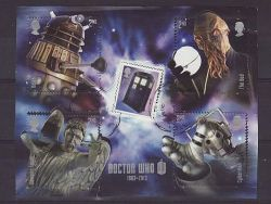 2013-03-26 Dr Who Stamps M/S Used (81582)