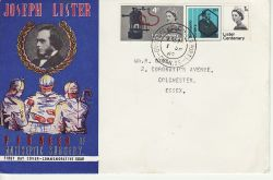1965-09-01 Lister Centenary Stamps Guernsey cds FDC (81615)