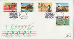 1986-07-15 Sport Stamps Hockey London NW10 FDC (81729)