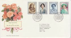 1990-08-02 Queen Mother 90th Bureau FDC (81787)