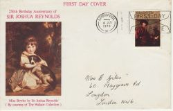 1973-07-04 British Painters Stamp Liverpool Slogan FDC (81825)